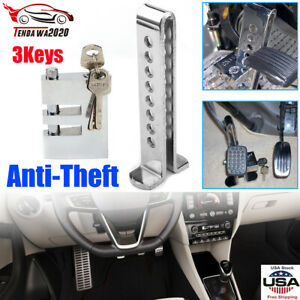 Brake Pedal Lock Security Stainless Steel Clutch Lock Anti Theft For Car