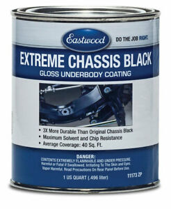 Eastwood Extreme Chassis Black High Gloss Qt Seal Rust Improves Chips Resistance