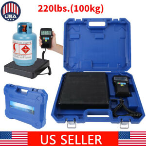 220 Lbs Electronic Refrigerant Charging Digital Weight Scale For Hvac Portable