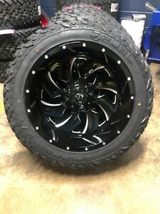 22x12 Fuel D574 Cleaver Wheels 35 Mt Tires Package 8x170 Ford Super Duty F250