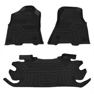 Floor Mats Liners For 2015 2020 Ford F 150 Super Crew Cab Black Rubber Kit 3pcs