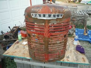 Ih Farmall Super Mta Tractor Grille With Insert Very Nice 361