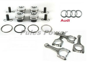 4 Genuine Pistons W Con Rods Improved Oil Consumption For Audi Q5 Vw Jetta 2 0t