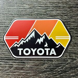 Toyota Mtn W Stripes Sticker Decal Tundra Tacoma Sr5 4x4 4runner Fj Cruiser Trd