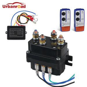 Remote Control Winch Solenoid Contactor Relay Switch Wireless Fit For Kfi Warn