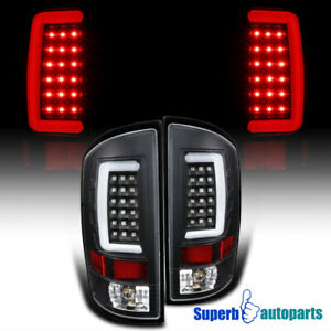 For 2007 2008 Dodge Ram 1500 2500 3500 Led Drl Strip Tail Lights Brake Black