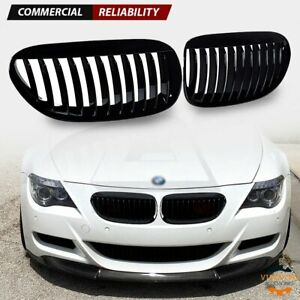 Gloss Black Front Kidney Grill Grille For Bmw E63 E64 M6 645ci 650i 2d 2004 2010
