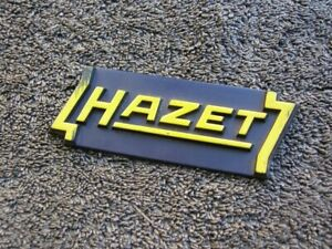 Hazet Logo Tag Badge From Tool Box Car Volkswagen Vw Vintage Accessory