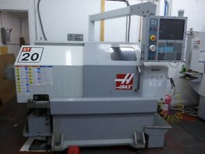 Used Haas Gt 20 Cnc Lathe 2008 8 Chuck 8 Tools 4000 Rpm 10 Hp Chucker