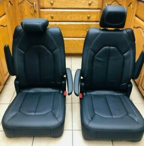 2020 Pacifica Chrysler Bucket Seats Brand New Original Leather Black 2 Pieces