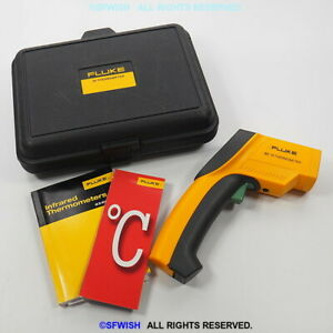New Fluke 63 Ir Handheld Digital Non contact Infrared Thermometer Gun open Box
