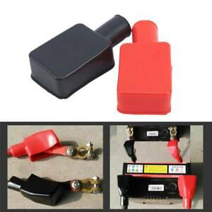 Car Battery Clamp Terminal Insulation Cover Left Right Positive Negative
