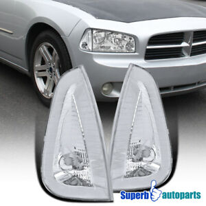For 2006 2010 Dodge Charger Corner Lamps Signal Lights Smoke Pair Replacement