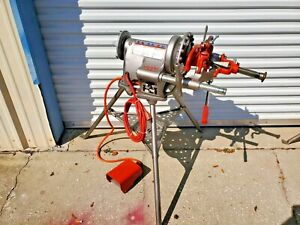 Ridgid 300 t2 Pipe Threader Threading Machine W Tristand Foot Pedal
