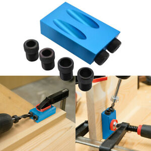 Positioner Pocket Hole Dowel Jig Guides Screw Joint Woodworking Joiner Drill Us