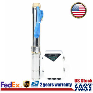 400w Solar Deep Well Pump Submersible Stainless Steel Mppt Controller 3000l h