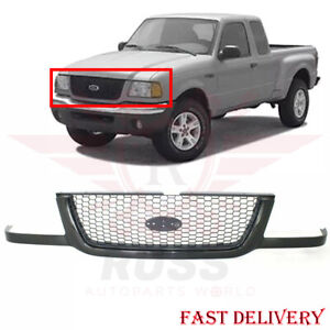 New Grille Black With Silver Mesh For 2001 2003 Ford Ranger Fo1200395 3l5z8200ba