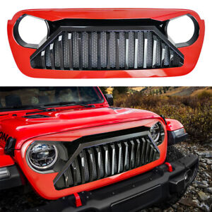 Red Black Angry Grille Vader Grill With Mesh For 2018 2020 Jeep Wrangler Jl