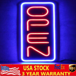 Bright 23 6 x11 8 Vertical Neon Open Sign 30w Led Light Bar Business W Adapter