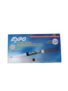 Expo 86001 Dry Erase Marker Fine Point 12 Pieces Black Low Odor