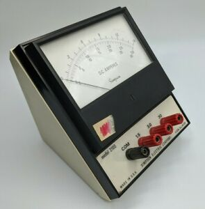 Simpson Model 2100 D c Amperes Voltage Meter Elgin Il Electric Co Vtg 70s