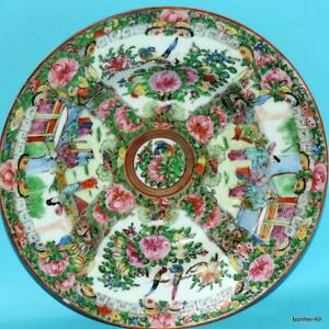 Chinese Export Porcelain Imperial Canton Famille Rose Dipe Plate