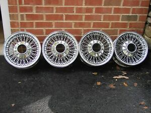 Vintage Dayton Knock Off Chrome Wire Wheels 13x5 5