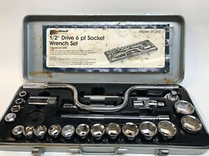 Allied Industrial Snap On 1 2 Drive 17 6 Pt Sae Socket Wrench Set 25 Pc Total