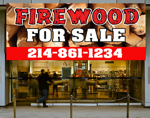Firewood For Sale Banner Campfire Wood Sign Custom Banner Retail Banner Outdoor