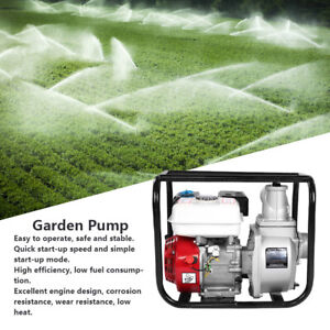 3in Petrol Gasoline Water Transfer Pump 7m Garden Irrigation Swimming Pool 3 6l