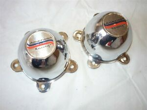 Vintage American Racing Center Caps Pair Nos