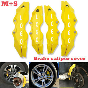4pcs Yellow Color Style 3d Car Universal Disc Brake Caliper Covers Front Rear