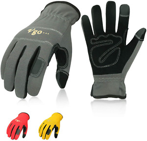 Synthetic Leather Work Gloves Light Duty Touchscreen Multi purpose 3 pairs New