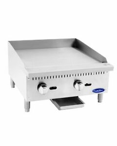 24 Commercial Flat top Grill Natural Gas Manual Griddle Nsf 2 Foot Wide
