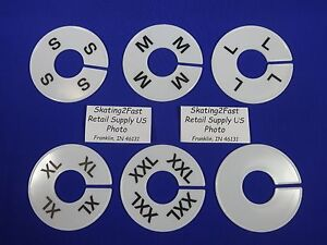 Set Of 6 Clothing Rack Round Size Divider S M L Xl Xxl Blank Retail Store