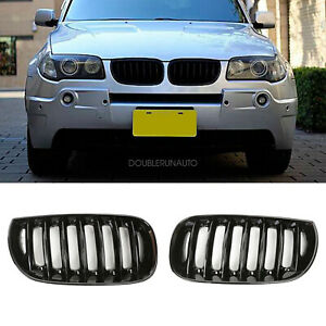 Front Bumper Center Kidney Glosy Black Grille Grill For Bmw E83 X3 04 06