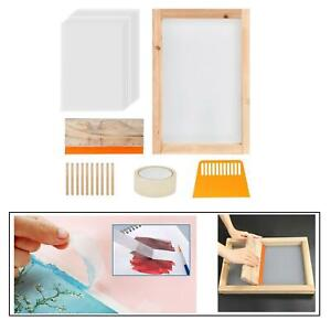 24pcs Screen Printing Starter Kit Silk Screen Frame Squeegee Tool For T shirts