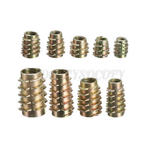 M4 M5 M6 M8 M10 Hex Drive Insert Screw Threaded Nuts E Type For Wood