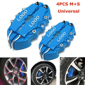 4x 3d Car Universal Disc Brake Caliper Covers Front Rear Accessories Kit Blue