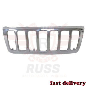 New Front Grille Chrome Without Inserts Fits 99 03 Jeep Grand Cherokee Ch1200221