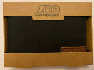 Snap On Tools 100th Anniversary Black Bi Fold Wallet Money Clip New In Box