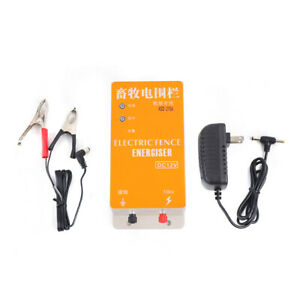 Electric Fence Energizer 0 6joule Solar High Voltage Pulse Electric Cattle Fence