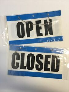 Lot Open Closed Sign With Hanging Chain Large 10 75 X 6 Business Store