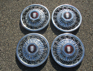Factory Original Ford Crown Victoria Ltd 15 Inch Wire Spoke Hubcaps Wheel Covers