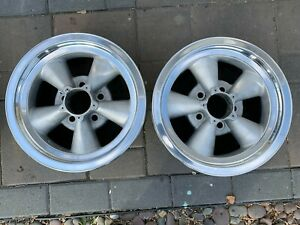 Vintage American Racing Torque Thrust Wheels 2 14 X 6 Polished Lip 5x4 5