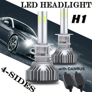 4 Sides H1 Led Car Headlight 180w High Or Low Beam 6000k White New Upgrade Bulbs