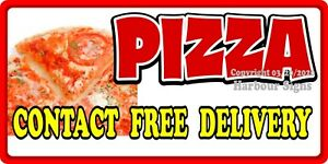 Pizza Deliver Decal choose Your Size Concession Food Truck Vinyl Sign Sticker