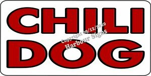 Chili Dog Decal choose Size Hot Dogs Concession Food Truck Vinyl Sign Sticker