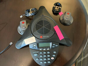 Polycom Soundstation 2 Office Conference Phone W 2x Microphone 2201 16200 001