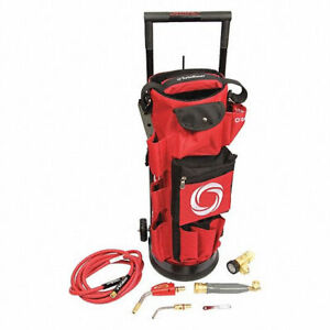 Turbotorch 0386 0578 Deluxe Portable Air Acetylene Kit Red